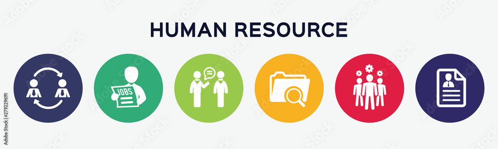Fototapeta Human resource.