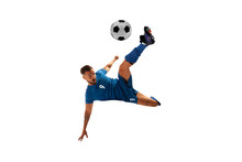 Soccer Players Isolated On Whi...