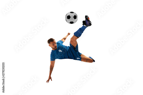 Fotografie, Obraz Soccer players isolated on white.
