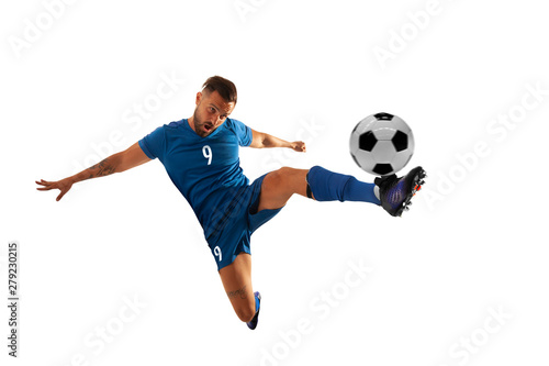 Fotografie, Tablou  Soccer players isolated on white.