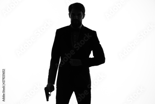 Photo silhouette of a man