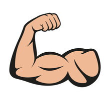 Biceps. Muscle Icon. Vector Il...