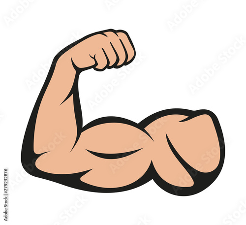 Biceps. Muscle icon. Vector illustration Tableau sur Toile