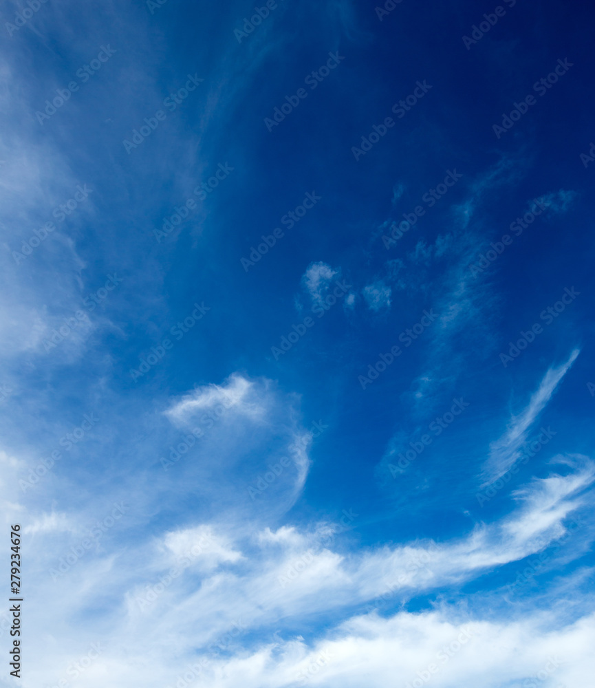 Fototapeta Blue sky with white clouds