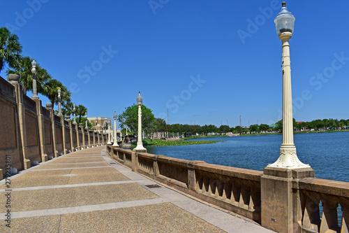 The Francis Langford Promenade in downtown Lakeland Florida. Wallpaper Mural