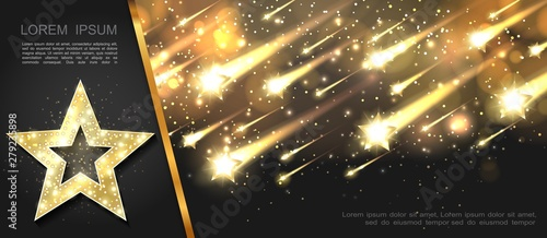 Foto Abstract Glowing Starry Template