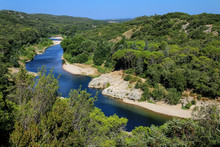 View Of Gardon River In Southern France