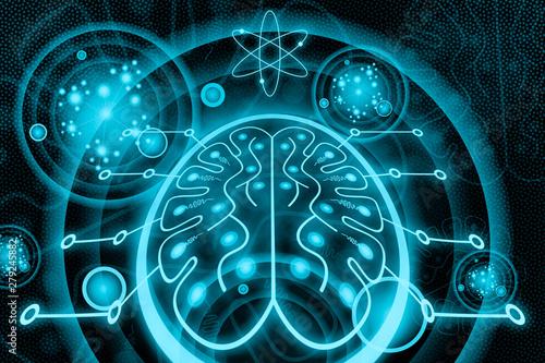 Photo  Neuromorphic Computing - Futuristic Technology