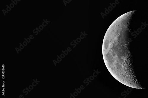 Obraz First quarter moon crater - fototapety do salonu