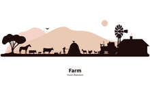 Silhouette Farming And Animal ...