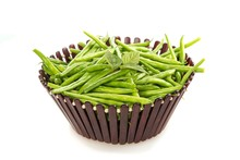 French Green Beans In A Basket