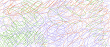 Colored Tangled Pattern. Abstract Chaotic Texture. Background With Lines And Waves. Art Creation