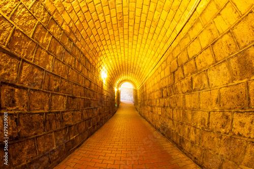 Stampa su Tela  Wine Cellar with Wooden Barrels