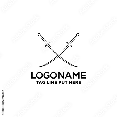 Photo  SWORD FIGHTING LOGO/IDENTITY DESIGN FOR USE ANY PURPOSE