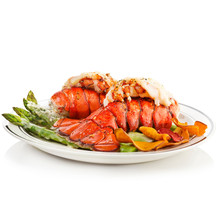Grilled Lobster Tails Served W...