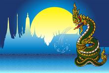 Serpent Or Naga Vintage Style ...