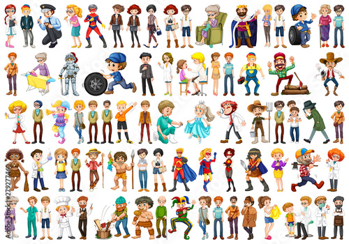 Canvas Prints Kids Huge set of people