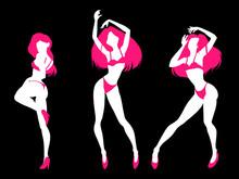 Set Of Sexy Women Silhouettes ...