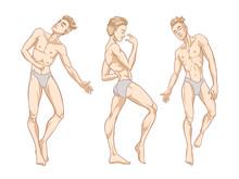 Sexy Handsome Men Dancing In U...