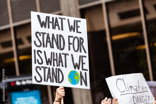 Fotografie, Obraz  Environmentalist sign at demonstration
