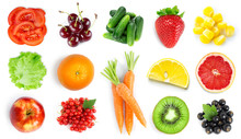 Collection Of Fruits And Veget...