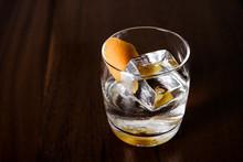 Vodka Cocktail With A Lemon Pe...