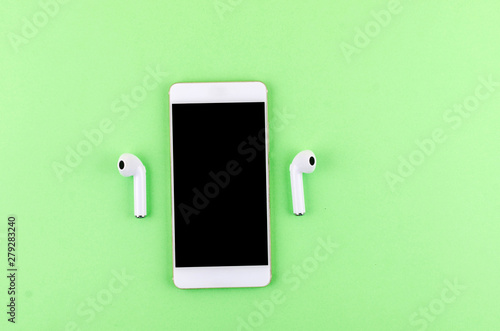 Airpods wireless headphones with phone - 279283240
