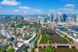 Frankfurt am Main skyline on a sunny day