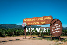 Welcome Sign Of Napa Valley, C...
