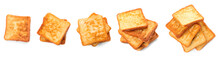 Tasty French Toasts On White B...