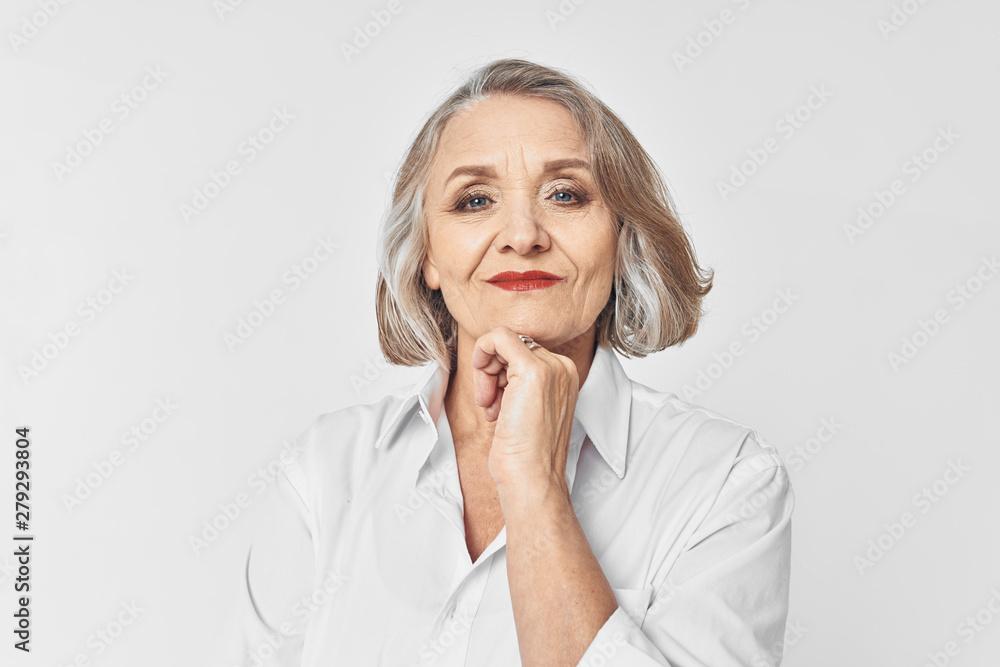 Fototapeta portrait of an old woman