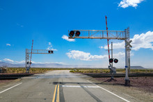 Railroad Crossing Gates On A R...