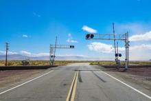 Railroad Crossing Gates On A R...