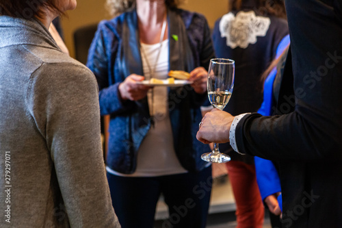 Valokuva  Business people networking at event