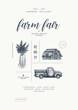 Farm Fair Poster Vintage Desig...