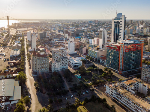 Aerial view of Maputo, capital city of Mozambique, Africa Canvas