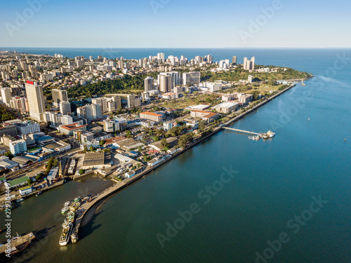 Wall Murals Africa Aerial view of Maputo, capital city of Mozambique, Africa