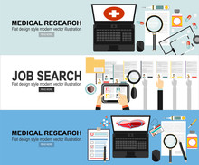 Concept Of Job Searching.Vaccination,medical Research Program.Online Health Medical Diagnosis,treatment
