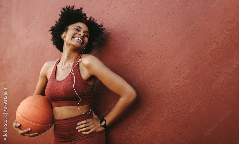 Fototapety, obrazy: Positive woman exercising