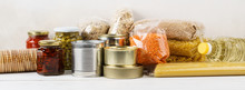 Various Canned Food And Raw Ce...