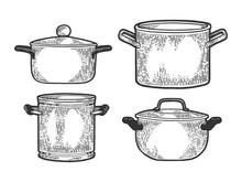 Pan Casserole Pot Set Kitchen ...