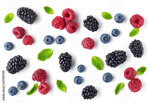 fresh berries pattern - 279317411