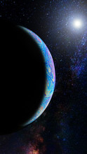 Colorful Planet In Deep Space