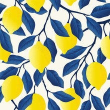 Tropical Seamless Pattern With...
