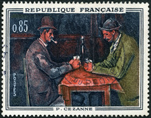 FRANCE - 1961: Shows The Card Players, By Paul Cezanne (1839-1906), Paintings