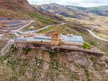 Aerial View Of Ishak Pasha Palace. It Is A Semi-ruined Palace And Administrative Complex Located In The Dogubeyazit, Agri. Turkey. Ottoman, Persian, Armenian Architectural Style