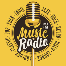 Vector Banner For Music Radio ...