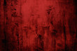 canvas print picture - Red grungy wall background or texture