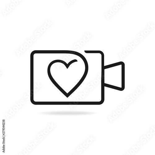 Wedding videography logo design. Vector image. Canvas-taulu