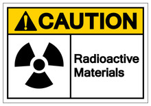 Caution Radioactive Materials Symbol Sign, Vector Illustration, Isolate On White Background Label. EPS10